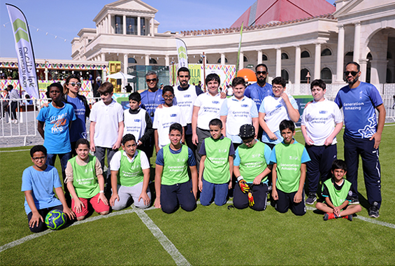 Students learn new footballing skills with Your Health First