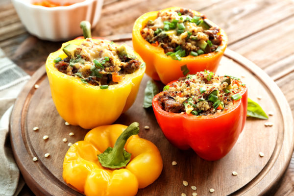 Air-Fried Stuffed Bell Peppers